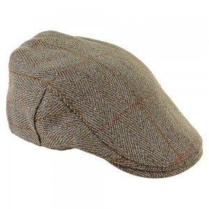 heather-fox-derby-tweed-cap-red-stripe-m