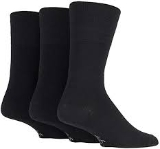 Gentle Grip Thermal Wool Blend Socks - Plain Black